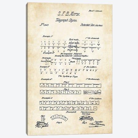 Morse Code (1840) Canvas Print #PTN186} by Patent77 Art Print