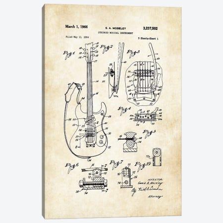 Mosrite Mark 1 Guitar Canvas Print #PTN187} by Patent77 Canvas Print