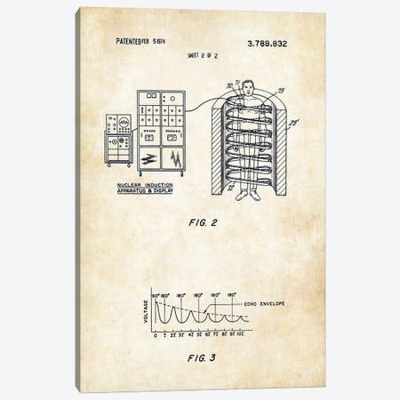 MRI Machine 3-Piece Canvas #PTN188} by Patent77 Canvas Art
