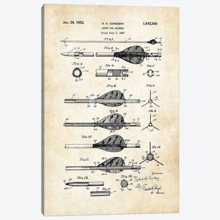 Archery Arrow Canvas Print #PTN18} by Patent77 Canvas Artwork