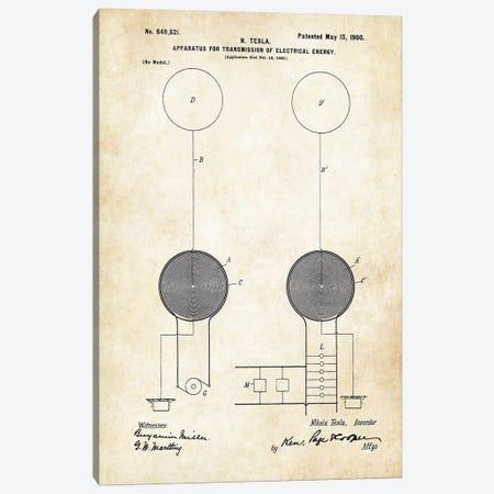 Nikola Tesla Coil (1900) Canvas Print #PTN190} by Patent77 Canvas Print