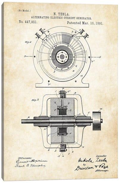 Nikola Tesla Generator Canvas Art Print