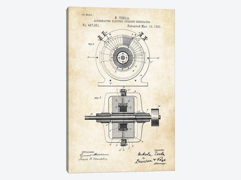Nikola Tesla Generator by Patent77 1-piece Canvas Wall Art