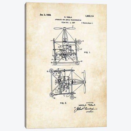 Nikola Tesla Helicopter Canvas Print #PTN194} by Patent77 Canvas Art