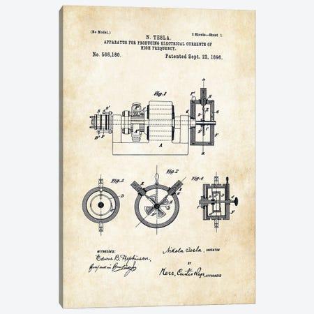 Nikola Tesla Radio Canvas Print #PTN197} by Patent77 Canvas Wall Art