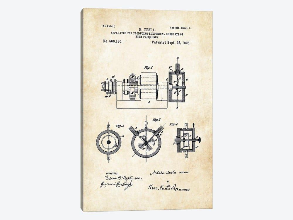 Nikola Tesla Radio by Patent77 1-piece Canvas Artwork