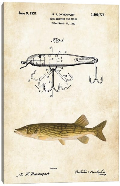Northern Pike Fishing Lure Canvas Art Print