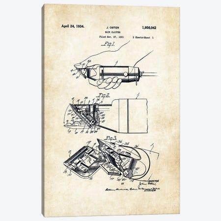 Oster Barber Razor Canvas Print #PTN199} by Patent77 Canvas Art Print