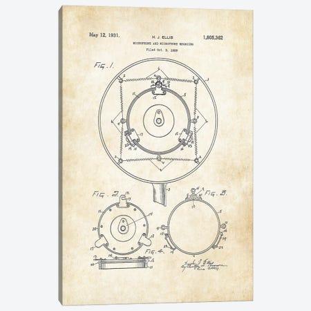 Art Deco Microphone Canvas Print #PTN19} by Patent77 Canvas Art
