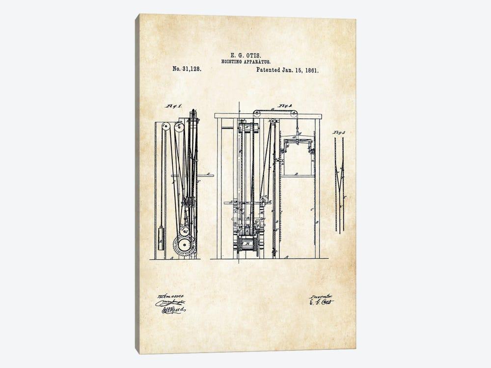 Otis Elevator (1861) by Patent77 1-piece Canvas Artwork
