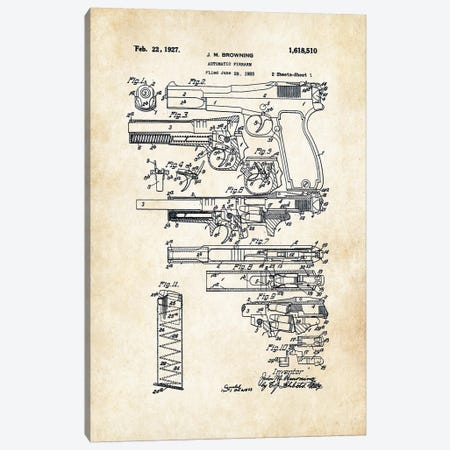 P35 Hi Power FN Pistol Canvas Print #PTN201} by Patent77 Art Print