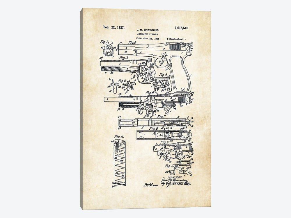 P35 Hi Power FN Pistol by Patent77 1-piece Canvas Print