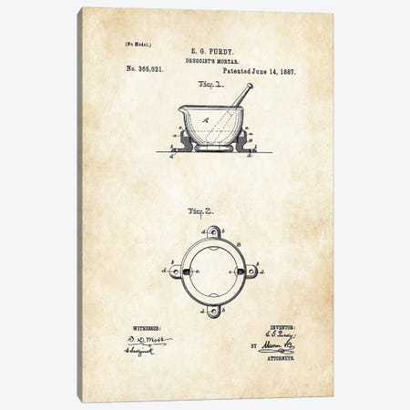 Pharmacist Mortar and Pestle 3-Piece Canvas #PTN203} by Patent77 Canvas Print