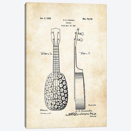 Pinapple Ukulele (S.K. Kamaka) Canvas Print #PTN207} by Patent77 Canvas Artwork