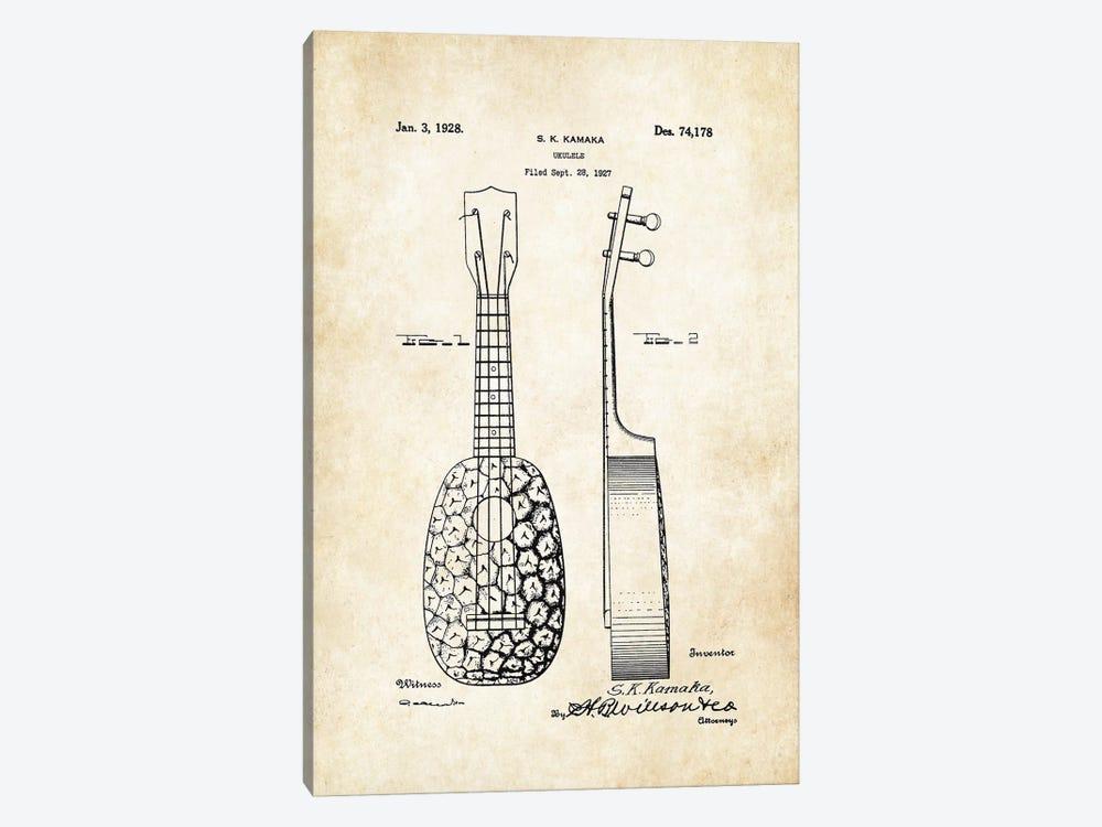 Pinapple Ukulele (S.K. Kamaka) by Patent77 1-piece Canvas Print