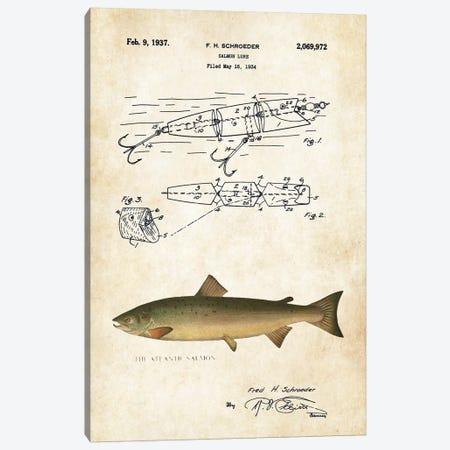 Atlantic Salmon Fishing Lure Canvas Print #PTN20} by Patent77 Art Print