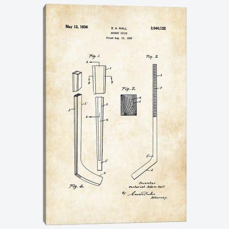 Hockey Stick Canvas Print #PTN210} by Patent77 Canvas Wall Art