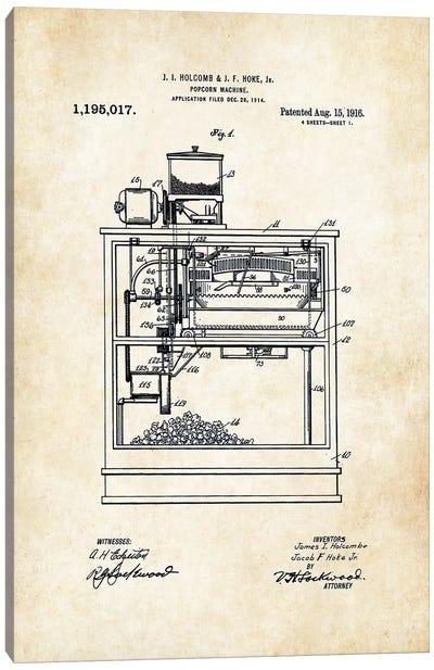 Popcorn Machine Canvas Art Print