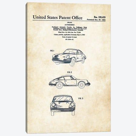 Porsche 911 (1964) Canvas Print #PTN220} by Patent77 Art Print