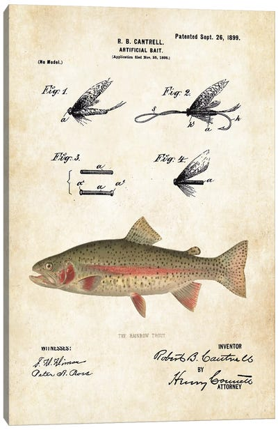 Rainbow Trout Fishing Lure Canvas Art Print