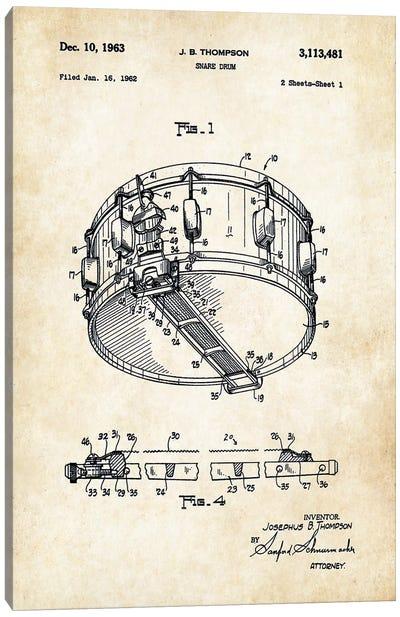 Rogers Dynasonic Snare Drum Canvas Art Print