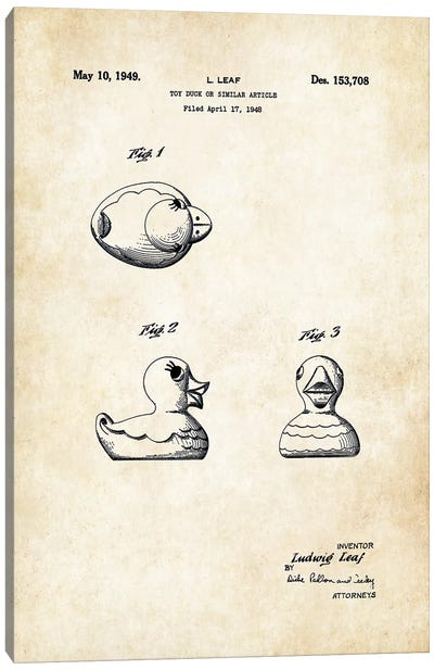 Rubber Ducky Canvas Art Print