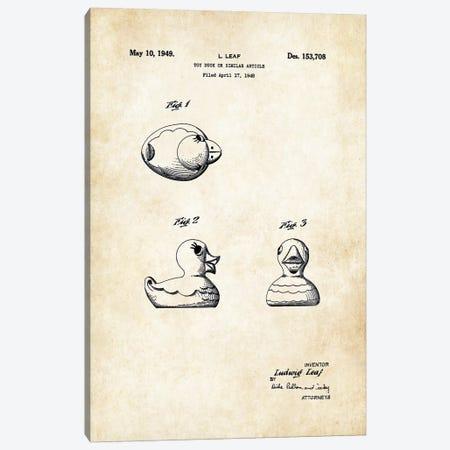 Rubber Ducky Canvas Print #PTN227} by Patent77 Canvas Art