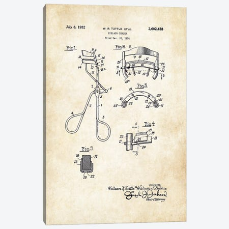 Salon Eyelash Curler Canvas Print #PTN229} by Patent77 Canvas Print