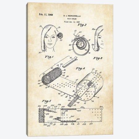 Salon Hair Curler Canvas Print #PTN230} by Patent77 Canvas Artwork