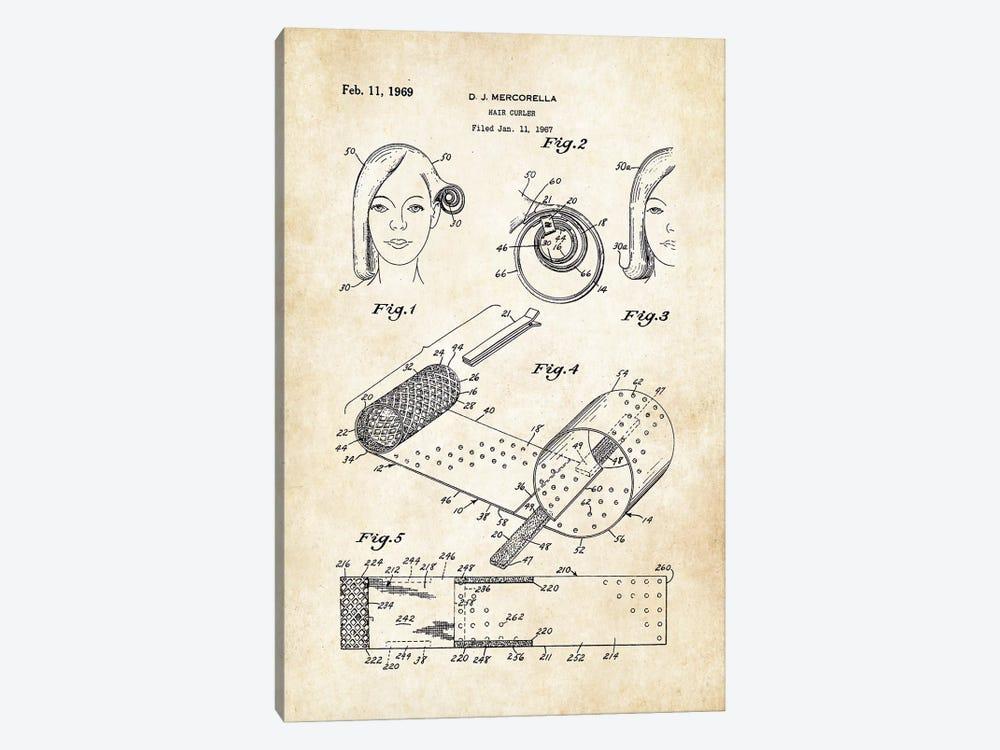 Salon Hair Curler by Patent77 1-piece Canvas Print