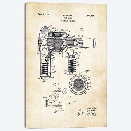 Salon Hair Dryer Canvas Print #PTN231} by Patent77 Canvas Wall Art