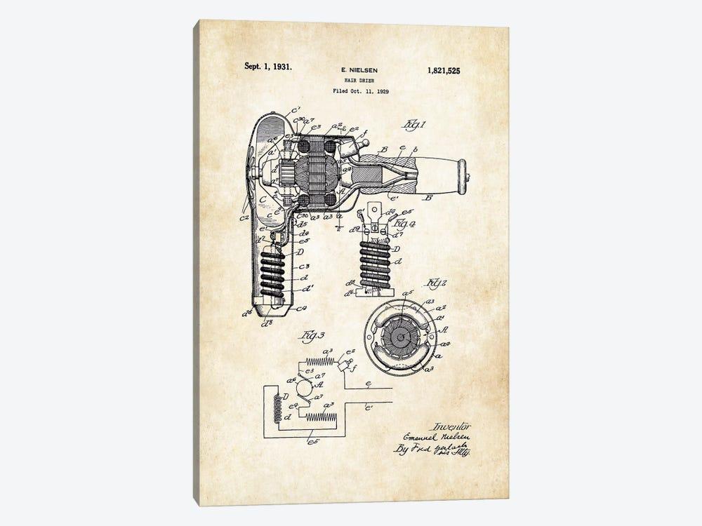 Salon Hair Dryer by Patent77 1-piece Canvas Art