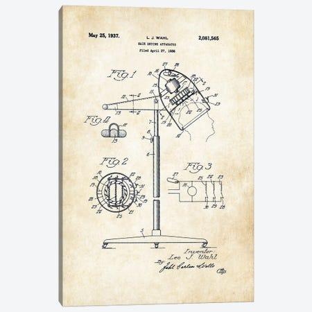 Salon Hair Dryer Canvas Print #PTN232} by Patent77 Canvas Artwork