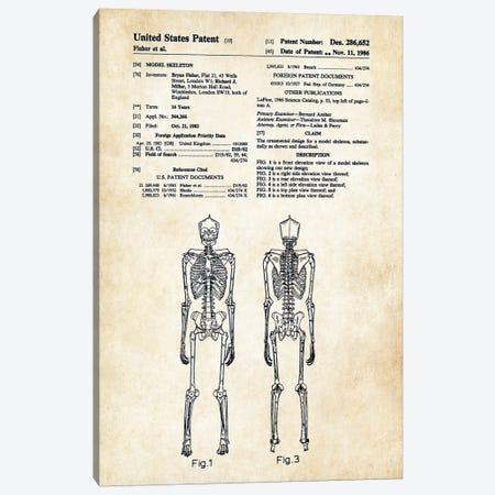 Skeleton Canvas Print #PTN240} by Patent77 Canvas Art Print