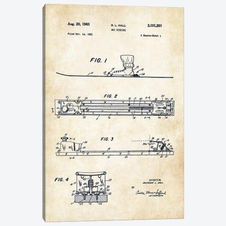 Ski Binding Canvas Print #PTN241} by Patent77 Canvas Art Print