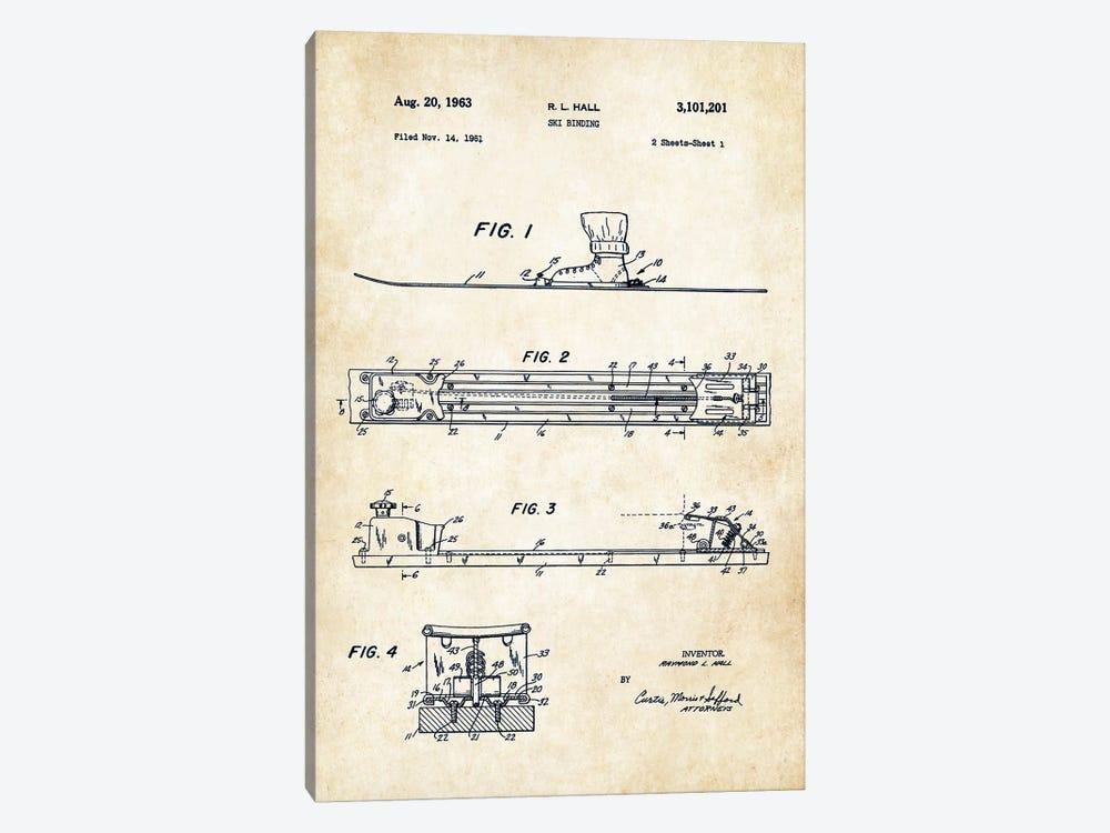 Ski Binding by Patent77 1-piece Canvas Print