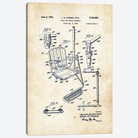 Ski Lift Canvas Print #PTN243} by Patent77 Canvas Print