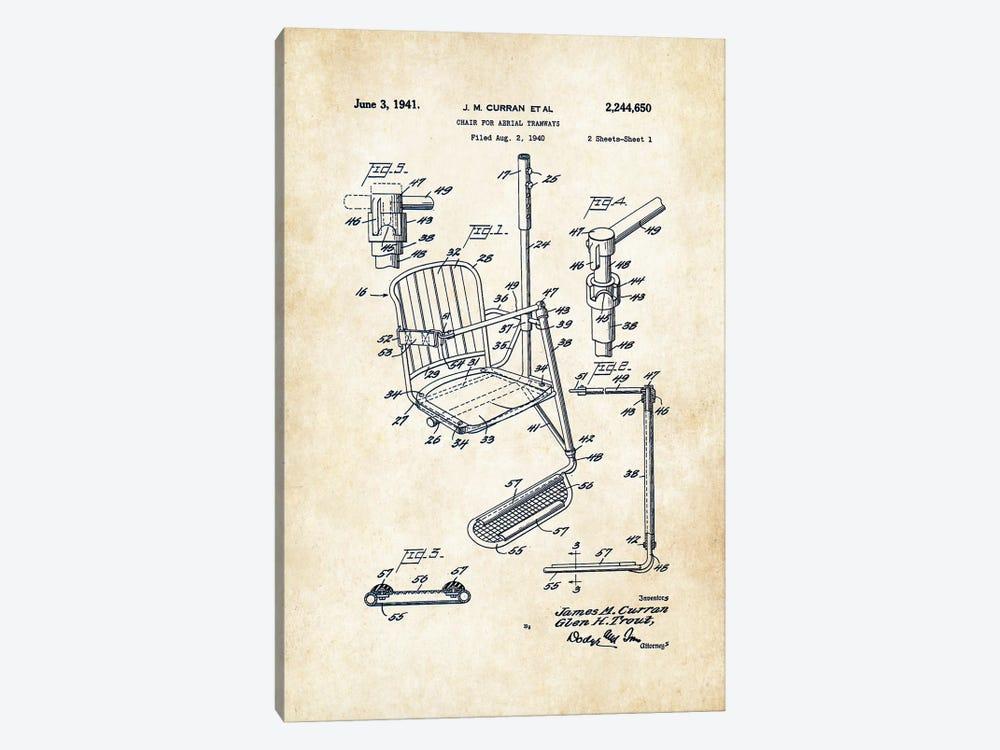 Ski Lift by Patent77 1-piece Art Print