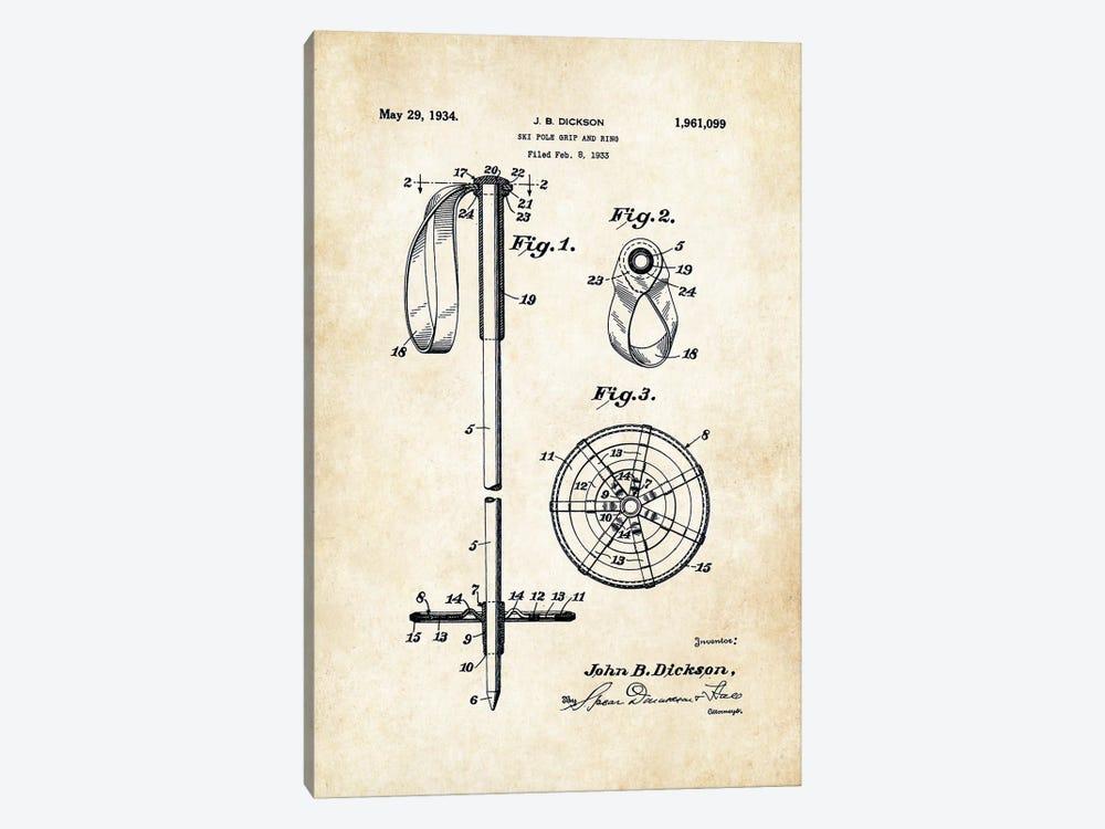 Ski Pole by Patent77 1-piece Canvas Artwork
