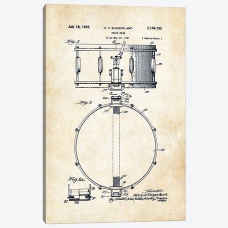 Slingerland Radio King Snare Drum Canvas Print #PTN245} by Patent77 Canvas Art