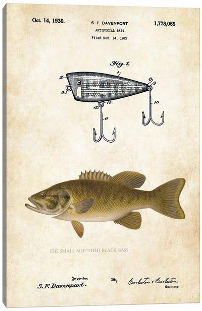 Smallmouth Bass Fishing Lure Canvas Art Print