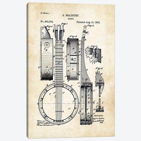 Banjo Guitar Canvas Print #PTN24} by Patent77 Canvas Wall Art