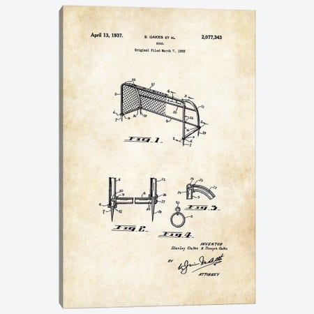 Soccer Goal Canvas Print #PTN250} by Patent77 Canvas Artwork