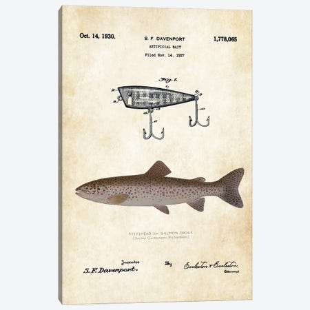 Steelhead Salmon Fishing Lure Canvas Print #PTN251} by Patent77 Canvas Wall Art