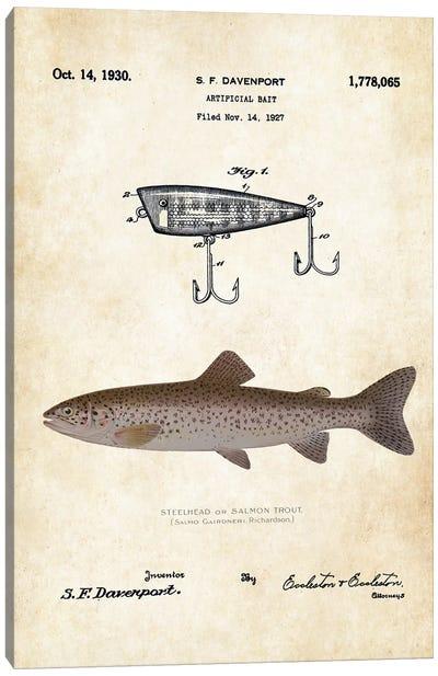 Steelhead Salmon Fishing Lure Canvas Art Print