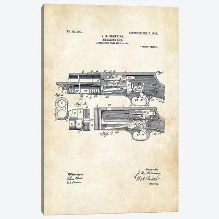Stevens 520 Shotgun Canvas Print #PTN253} by Patent77 Canvas Art