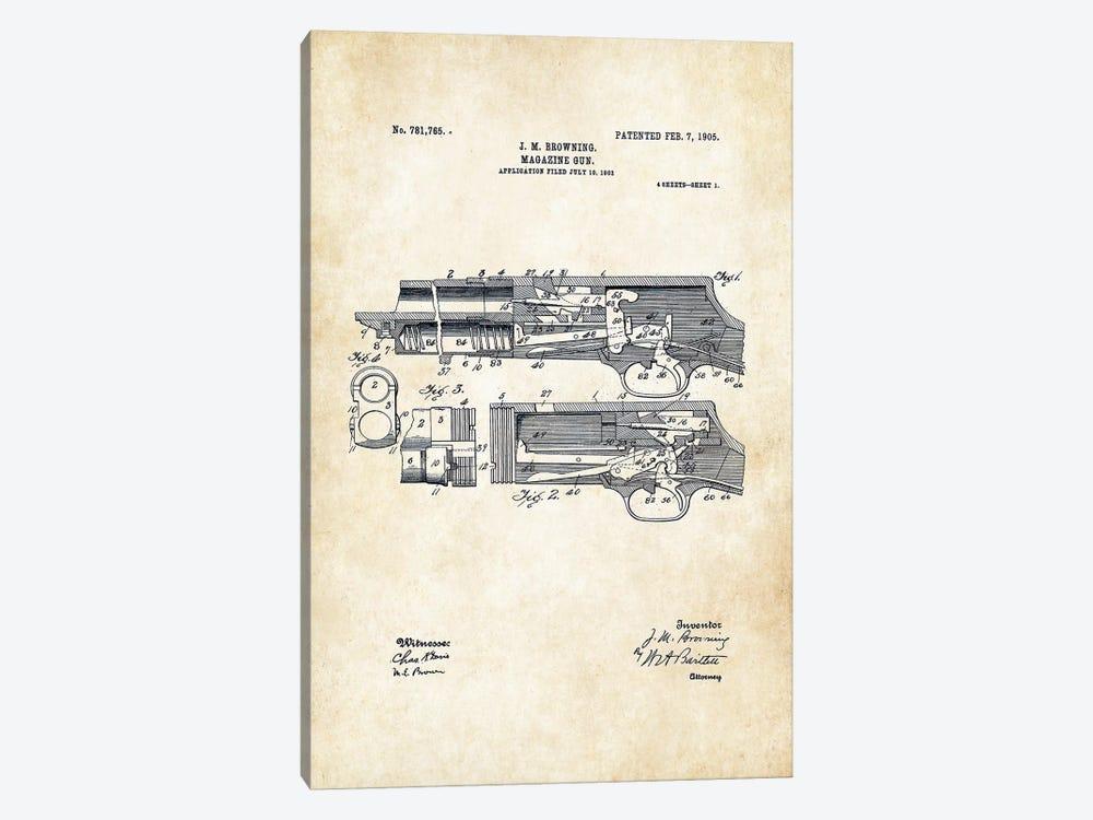 Stevens 520 Shotgun by Patent77 1-piece Canvas Artwork