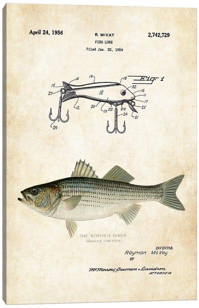 Striped Bass Fishing Lure Canvas Art Print