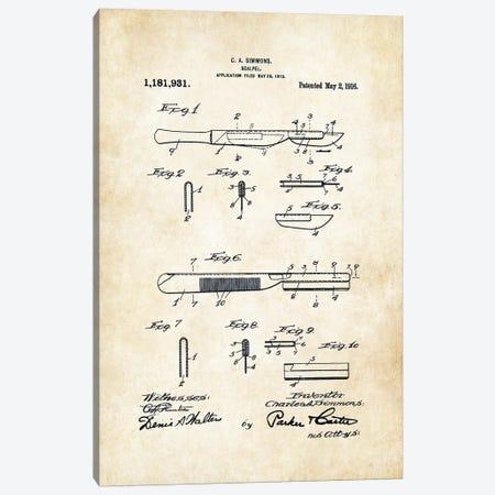 Surgeon Scalpel 3-Piece Canvas #PTN256} by Patent77 Art Print