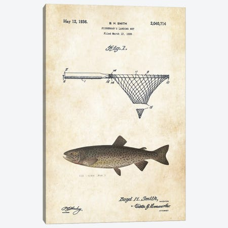 Tahoe Trout Fishing Lure Canvas Print #PTN258} by Patent77 Canvas Art